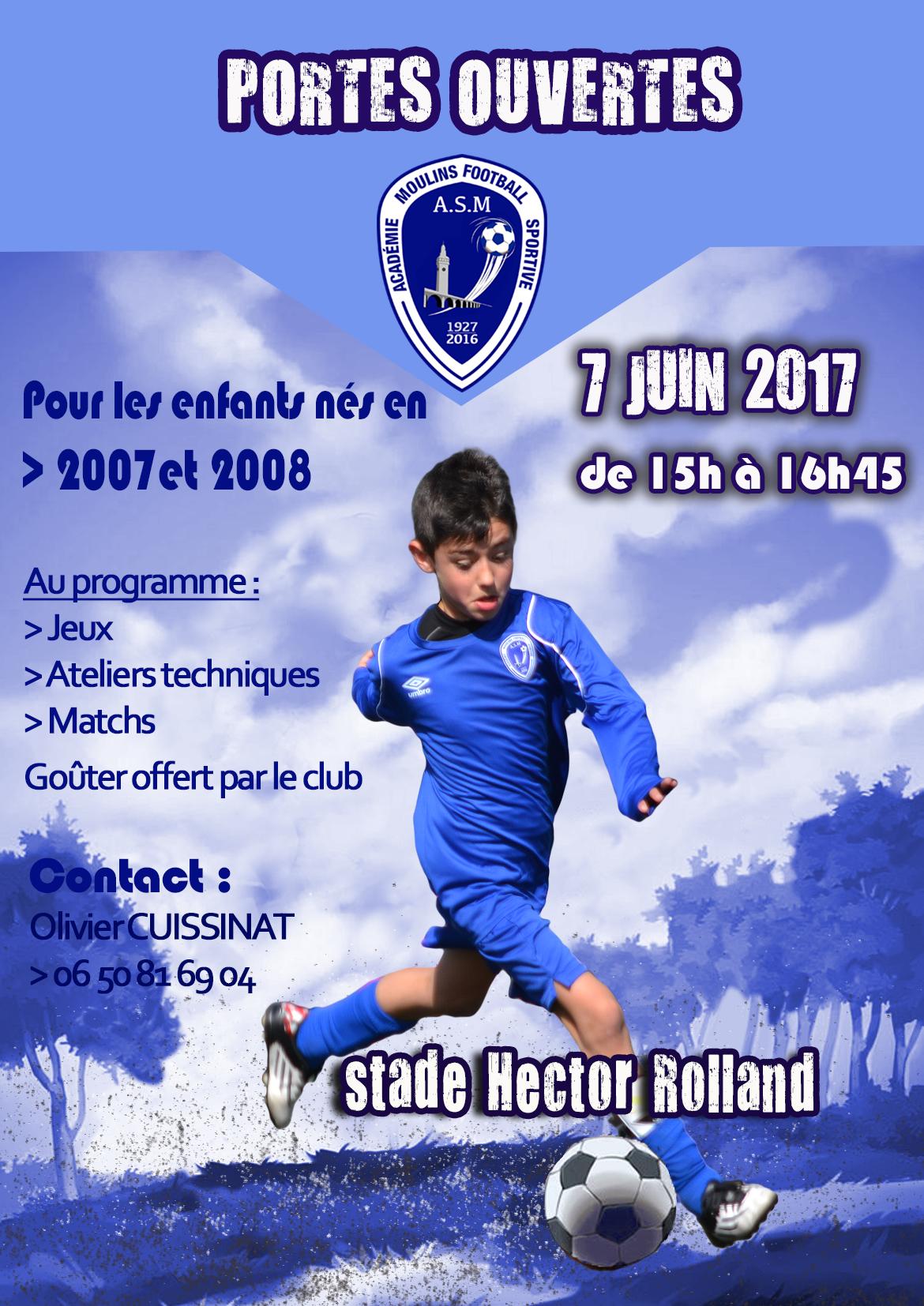 Portes ouvertes pour les futurs u10 u11 l 39 as moulins foot club de football de moulins - Olivier de serres portes ouvertes ...